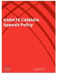 KARATE CANADA Appeals Policy