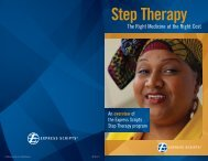 Express Scripts Step Therapy Brochure