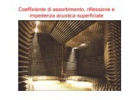 Coefficiente di assorbimento, riflessione e impedenza ... - Studium