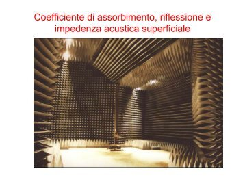 Coefficiente di assorbimento, riflessione e impedenza ... - Studium