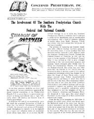 The Concerned Presbyterian, Bulletin no. 33 - PCA Historical Center