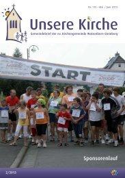 Unsere Kirche 2/2013 Mai bis Juni - Evangelische Kirchengemeinde ...