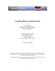 Canadian Offshore Schools in China - Asia Pacific Foundation of ...