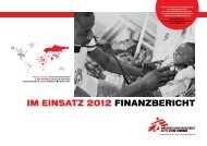 Finanzbericht Österreich 2012 - Ärzte ohne Grenzen