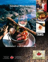 Canadian Wine & Culinary Enthusiasts - Canadian Tourism ...