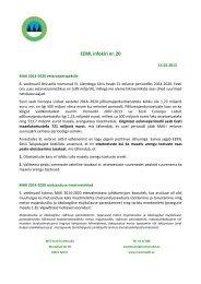EEML infokiri nr. 20 - Erametsakeskus