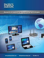Research & Analysis for digital living technologies ... - TV Connect
