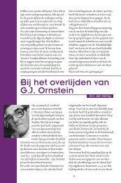Bij het overlijden van G.J. Ornstein - Kerk en Israël
