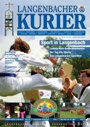 34. Ausgabe Oktober 2011 33. Ausgabe Juli 2011 - Langenbach
