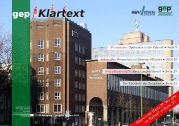 Klartext 1/2011, Haus - gep-Essen