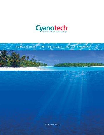 2011 Annual Report - Cyanotech
