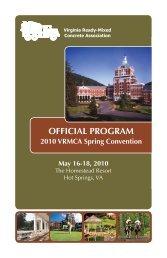 OFFICIAL PROGRAM - Virginia Ready-Mixed Concrete Association