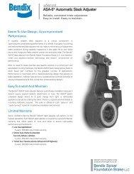 ASA-5® Slack Adjuster Sell Sheet - Bendix Spicer Foundation Brake