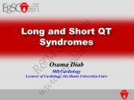 Long and Short QT Syndromes - cardioegypt2011