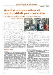 Analisi comparativa di combustibili per uso civile Contenuti e risultati ...