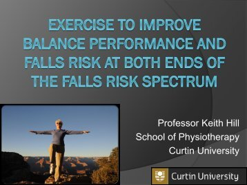 Professor Keith Hill - Health Sciences - Curtin University