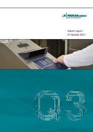 Download Quarterly Report Q3/2011 - Mühlbauer Group