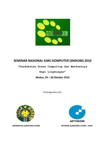 (snikom) 2010 - USUpress - Universitas Sumatera Utara