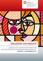 EINLADUNG ZUR ENQUETE - Film and Music Austria