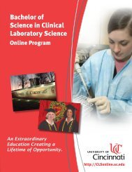 Bachelor of Science in Clinical Laboratory Science - UC's Medical ...