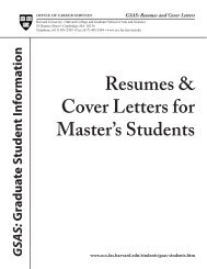Resumes & Cover Letters for PhD Students - Office of Career ...