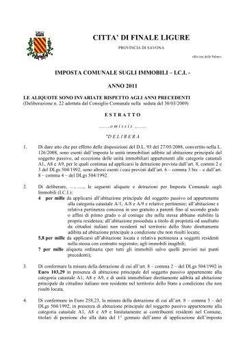 Aliquote imu 2012 comune di finale ligure - Comune bagno a ripoli imu ...