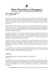 Press Freedom, World Review June – December 2008 Journalists ...
