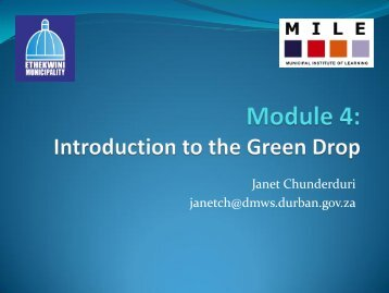 Module 4 - Introduction to Green Drop - MILE