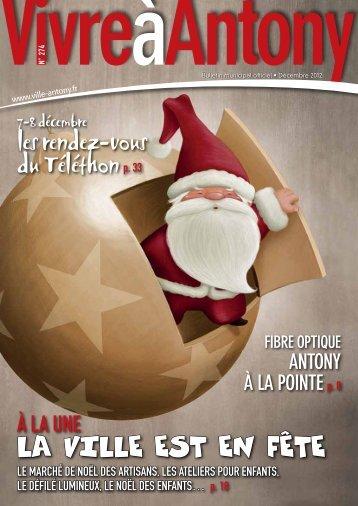20 à la une n°274 - décembre 2012 - Ville d'Antony