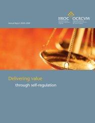 2009 Annual Report - IIROC
