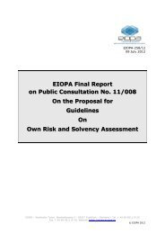 EIOPA Final Report on Public Consultation No. 11/008 On ... - Europa