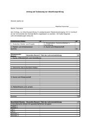 Antrag auf Zulassung zur Masterprüfung - Institut für Kunst im Kontext