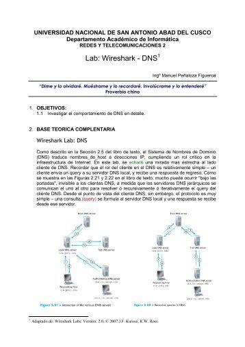 Lab: Wireshark - DNS1 - Ingeniería Informática y de Sistemas ...