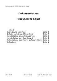 Dokumentation Proxyserver Squid