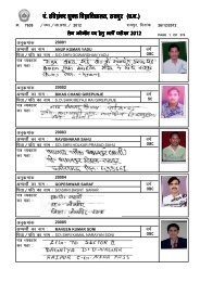 List of Candidates for the post of Lab Attendant - Pt. Ravishankar ...