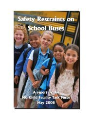 Safety Restraints on School Buses - NC School Bus Safety Web