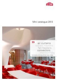 air curtains radiant heaters fan heaters convectors ... - Systemair