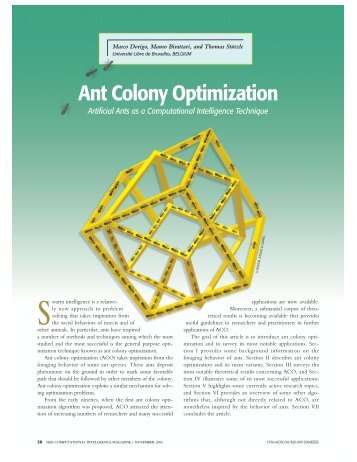 Ant Colony Optimization - CiteSeerX