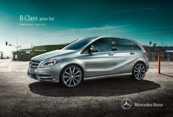 B-Class price list - Mercedes-Benz