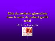 rle du mg dans le suivi du patient greff - Service de néphrologie ...