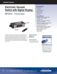 Electronic Vacuum Switch with Digital Display - Vaccon Vacuum ...
