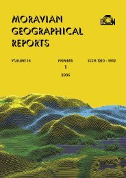 MORAVIAN GEOGRAPHICAL REPORTS  - Institute of Geonics