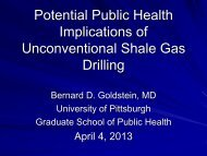 Potential Public Health Implications of Unconventional Shale Gas ...