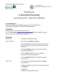 2. Bayerischer Floristentag am 21. April 2012, Einladung und ...