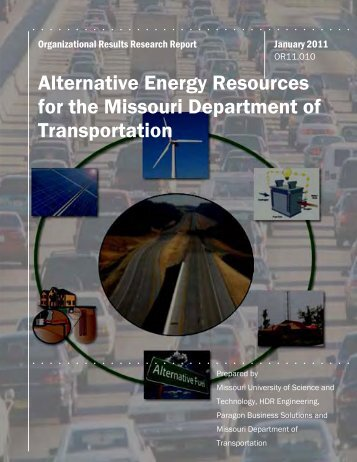 Alternative Energy Resources for the Missouri Department of ...