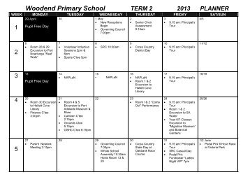 Planner - Woodend Primary School