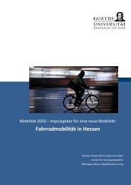 7. Chancen und Risiken für die Fahrradmobilität in Hessen