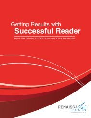 Getting Results Successful Reader - Renaissance Learning