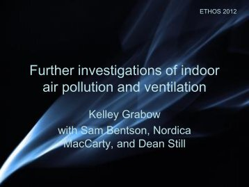 Further investigations in indoor air pollution