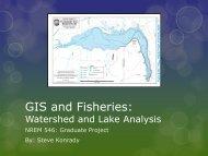 GIS and Fisheries: Watershed and Lake Analysis